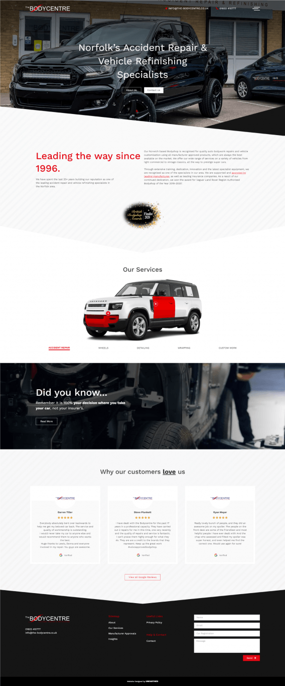 The Bodycentre Homepage